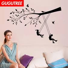 Decorate Home Trees Boys Girls Cartoon Art Wall Sticker Decoration Decals Mural Painting Removable Decor Wallpaper G 1862 Quotes Stickers For Walls Quotes Wall Stickers From Gugutreehome 3 52 Dhgate Com