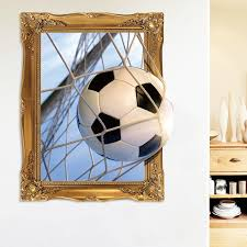 Decals Stickers Vinyl Art 3d Football Soccer Ball Wall Sticker Sport Decal Kid Boys Bedroom Home Gift Netpackmdz Com Ar