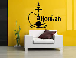 Amazon Com Removable Vinyl Sticker Mural Decal Wall Decor Poster Art Shisha Hookah Water Pipe House Cafe Smoke Shop Store Indoor Outdoor Sign Set Sa781 Home Kitchen