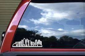 10in X 3in Kansas City Skyline Sticker Stickertalk