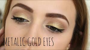 simple gold eyes colour pop tutorial