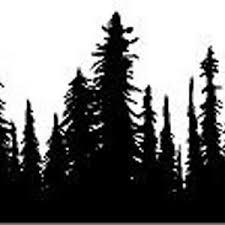 Treeline Vinyl Sticker Decal Etsy