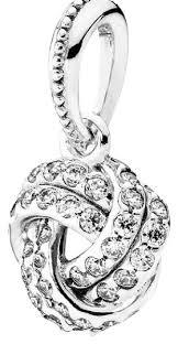 pandora silver sparkling love knot