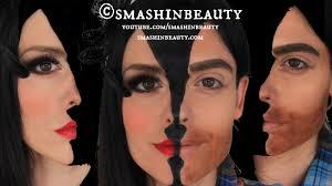 two faces halloween makeup tutorial
