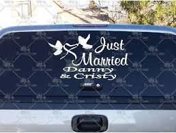 Shop Here For Just Married Hearts Decals And Stickers