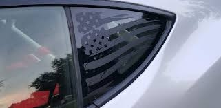 Distressed Flag Quarter Window Decal 2013 2018 Brz Frs 86 86mods Com