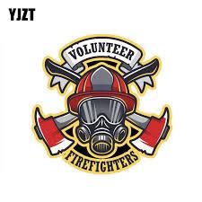 Volunteer Firefighter Car Sticker Pluto99