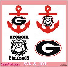 Georgia Bulldogs Design Kit Files Use Your Silhouette Studio Software Svg Files Dxf Font Eps Files Svg Fonts Silh Georgia Bulldogs Georgia Dawgs Monogram Decal