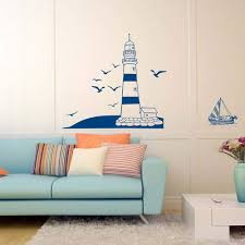 Amazon Com Jaromepower Living Room Bedroom Lighthouse Sea Mew Removable Wall Stickers Boys Room Kids Room Modern City Building Wall Decals Home Room Decor Diy Art Vinyl Wallpaper Home Kitchen