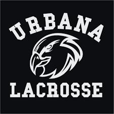 Urbana Hawks Vinyl Decal U Lacrosse Car Truck Mirror Wall
