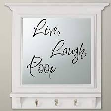 Amazon Com Live Laugh Poop 5 Wall Decal 13 X 13 Everything Else