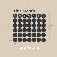 Daily Dot Chalkboard Wall Calendar Vinyl Wall Decal Simpleshapes On Artfire
