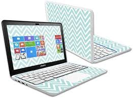 Amazon Com Mightyskins Skin Compatible With Hp Chromebook 11 6 2014 Touchscreen Sticker Skins Aqua Chevron Computers Accessories