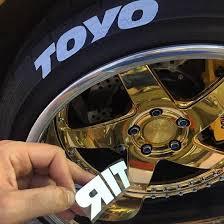 Toyo Tire Decals Tire Lettering Kit Corvette Mods