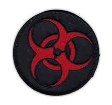 Motorcycle Jacket Embroidered Patch Zombie Symbol Black And Red Vest Cut Leathers 3 Round Walmart Com Walmart Com
