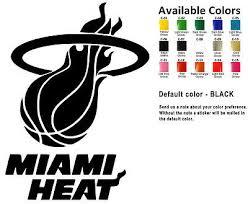 Miami Heat Vinyl Decal Sticker Car Window Wall Nba La Basketball Sport Art Team Ebay