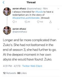 Aaron Ehasz on writing Azula - Album on Imgur