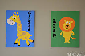 Diy Animal Paintings For A Kid S Room Toddler Art Projects Kids Rooms Diy Animal Art Projects