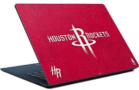 Amazon Com Skinit Decal Laptop Skin Compatible With Surface Laptop Officially Licensed Nba Houston Rockets Distressed Design Electronics