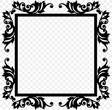 Picture Frames Wall Decal Sticker Mural Png 800x800px Picture Frames Art Baroque Black Black And White