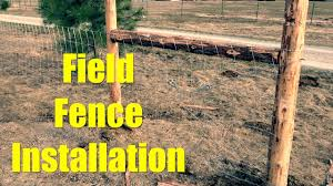 Perimeter Field Fence Installation Youtube