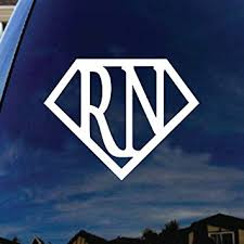 Amazon Com Socooldesign Super Rn Nurse Car Window Vinyl Decal Sticker 5 Wide Automotive
