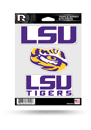 Lsu Tigers 3pk Auto Decal Yellow 7141317