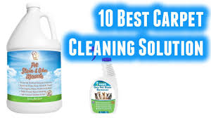 best carpet cleaning solution in