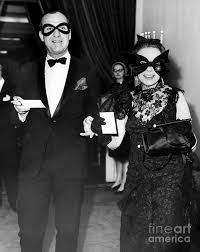 Mr. Kingman Douglas and his wife, Adele Astaire, attend a costume gala.  1966 Photograph by William N Jacobellis