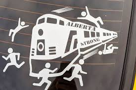 People In Canada Are Outraged At Car Decal Of Train Hitting Protesters