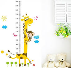 Giraffe Height Chart Wall Decal For Toddlers Room Shop Kids Parties