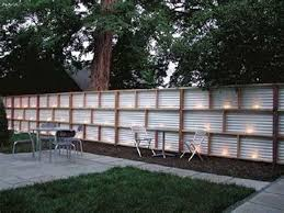 21 Best Inexpensive Privacy Fence Ideas For Your Yard 38 Modern Fence Design Corrugated Metal Fence Fence Decor