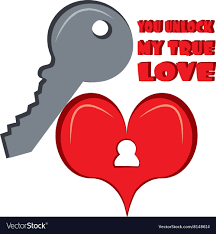 unlock my true love royalty free vector