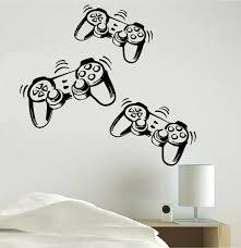 Video Game Vinyl Decal Sticker Playstation Joystick Wall Room Decoration Skin Ebay