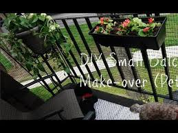 Diy Small Rental Balcony Makeover On A Budget Pet Friendly Youtube