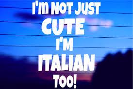Not Just Italian Car Decal Sticker
