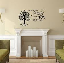 Family Tree Vinyl Wall Decal The Roots Of A Family Tree Begin With The Love Of Two Hearts Customvinyldecor Com