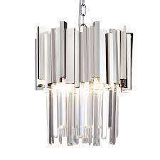 gold chrome ceiling pendant crystal