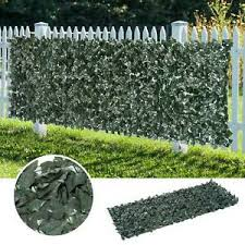 1 3m Artificial Ivy Leaf Hedge Panels Screening Green Expandable Plastic Fence Ebay