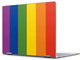 Amazon Com Skinit Decal Laptop Skin Compatible With Pixelbook Originally Designed Vertical Rainbow Flag Design Electronics