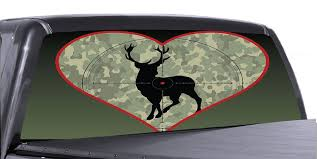 Hunting Scene 3 Universal Truck Rear Window 50 50 Perforated Vinyl Dec Roe Graphics And Apparel