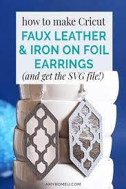 faux leather foil earrings
