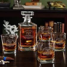 whiskey glasses and decanter set