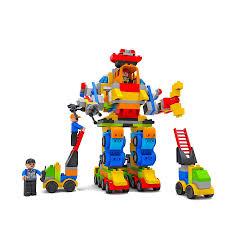 Đồ chơi xếp hình 356 bộ lắp ráp 4 siêu robot Vinatoy M1759-LR – Nhựa Chợ Lớn