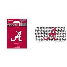 Alabama Crimson Tide Official Ncaa Vinyl Car Decal And Crystal Mirror License Plate Bundle 2 Items Walmart Com Walmart Com