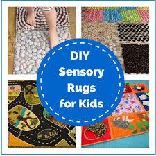 diy sensory rugs for kids montessori