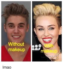 without makeup makeup meme on