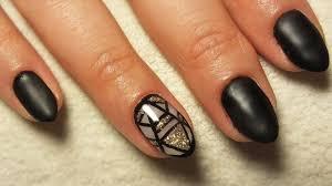 Czarny Mat I Geometryczny Wzor Black Matt And Geometric Nail