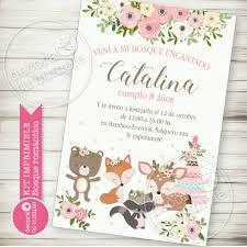 Kit Imprimible Personalizado Animales Del Bosque Romantico Vintage