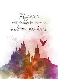 hogwarts quote art print harry potter nursery gift wall art